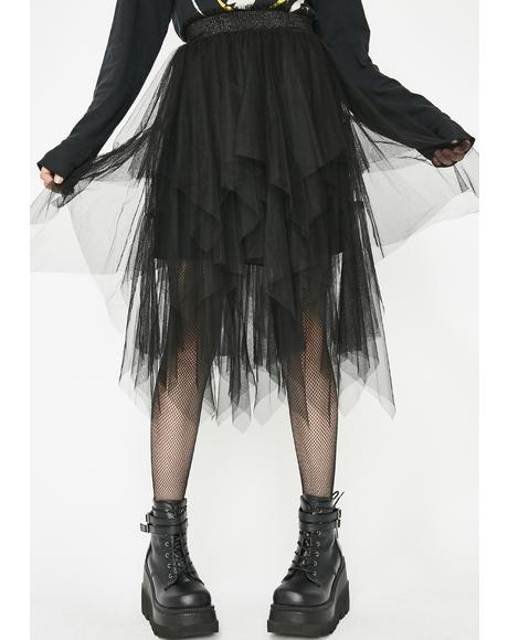Black Heart Tulle Skirt