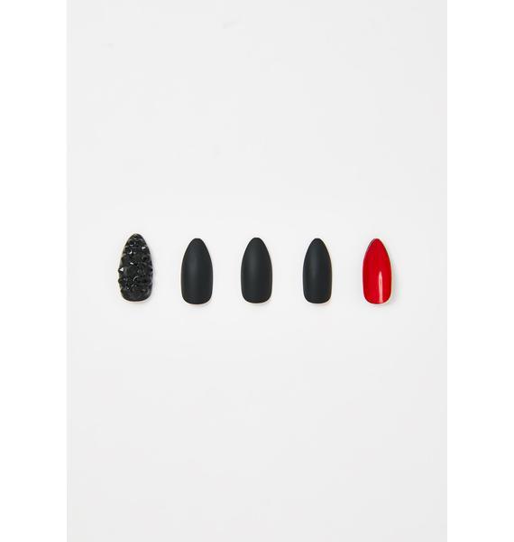 Marmalade Love Below X Black Press On Nails