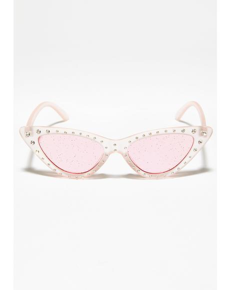 Mz. Glam Kitten Glitter Sunglasses