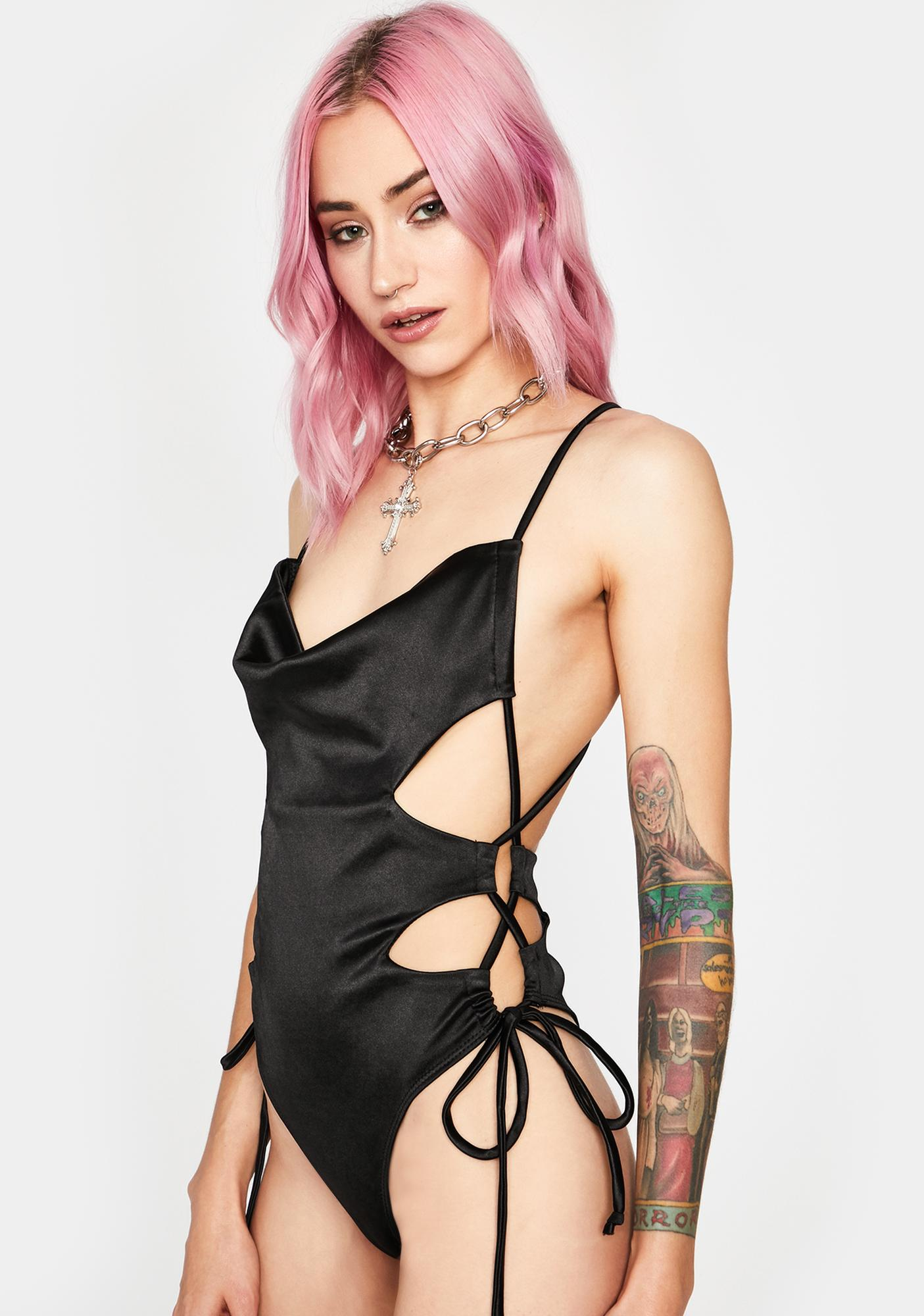 Chilling Tangled Desires Lace-Up Bodysuit
