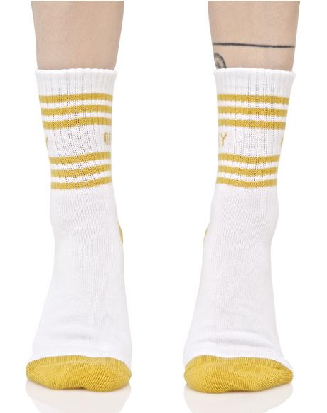 Golden Taylor Crew Socks