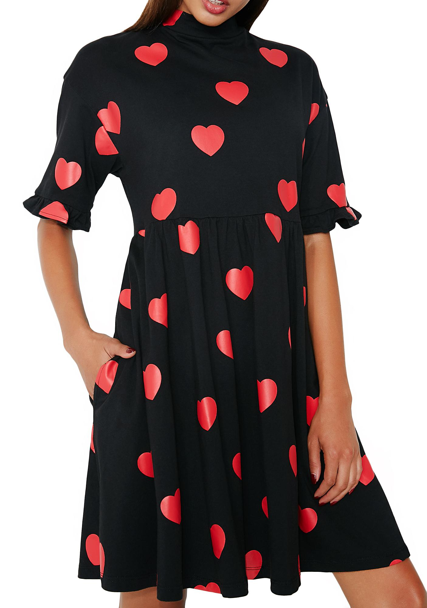 Lazy Oaf Heart Spot Dress
