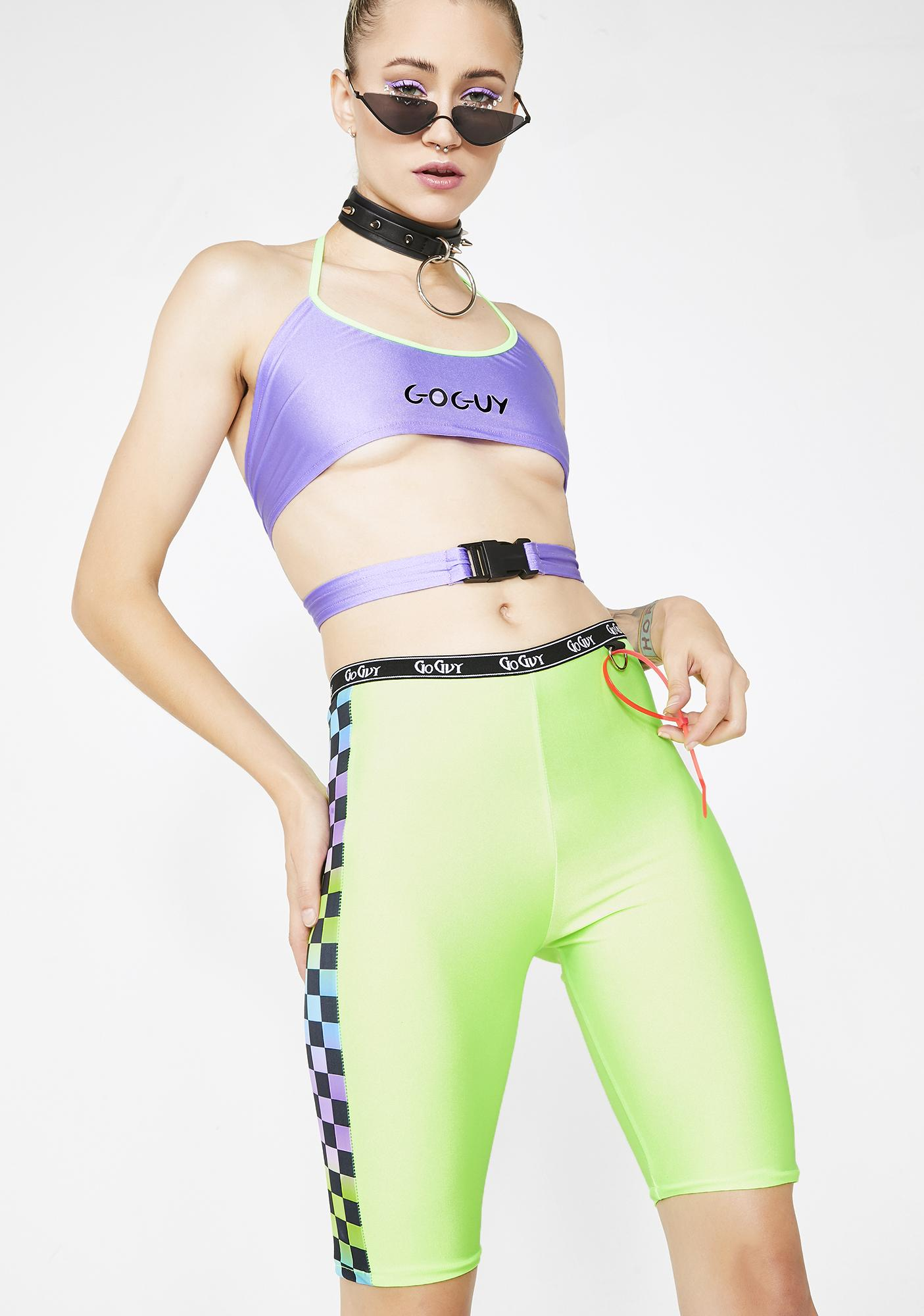 GoGuy Ombre Check Cycling Shorts