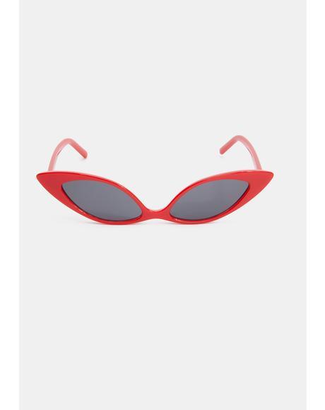 Crimson Sassy but Sweet Cat Eye Sunglasses