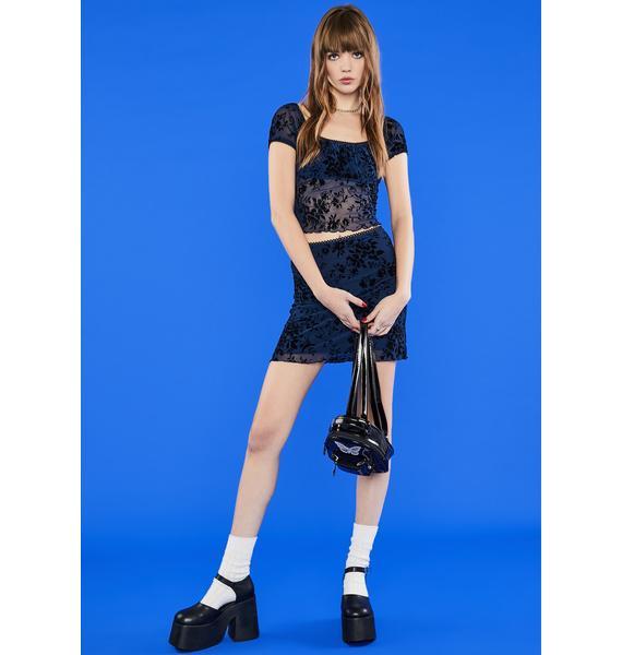 dELiA*s by Dolls Kill Humble Brag Mesh Skirt