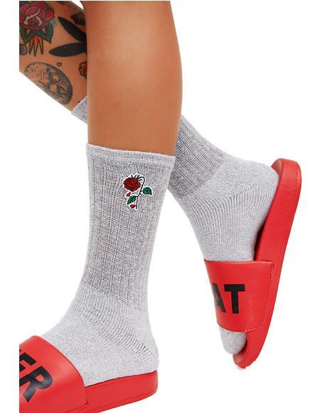 Delicate Rose Socks