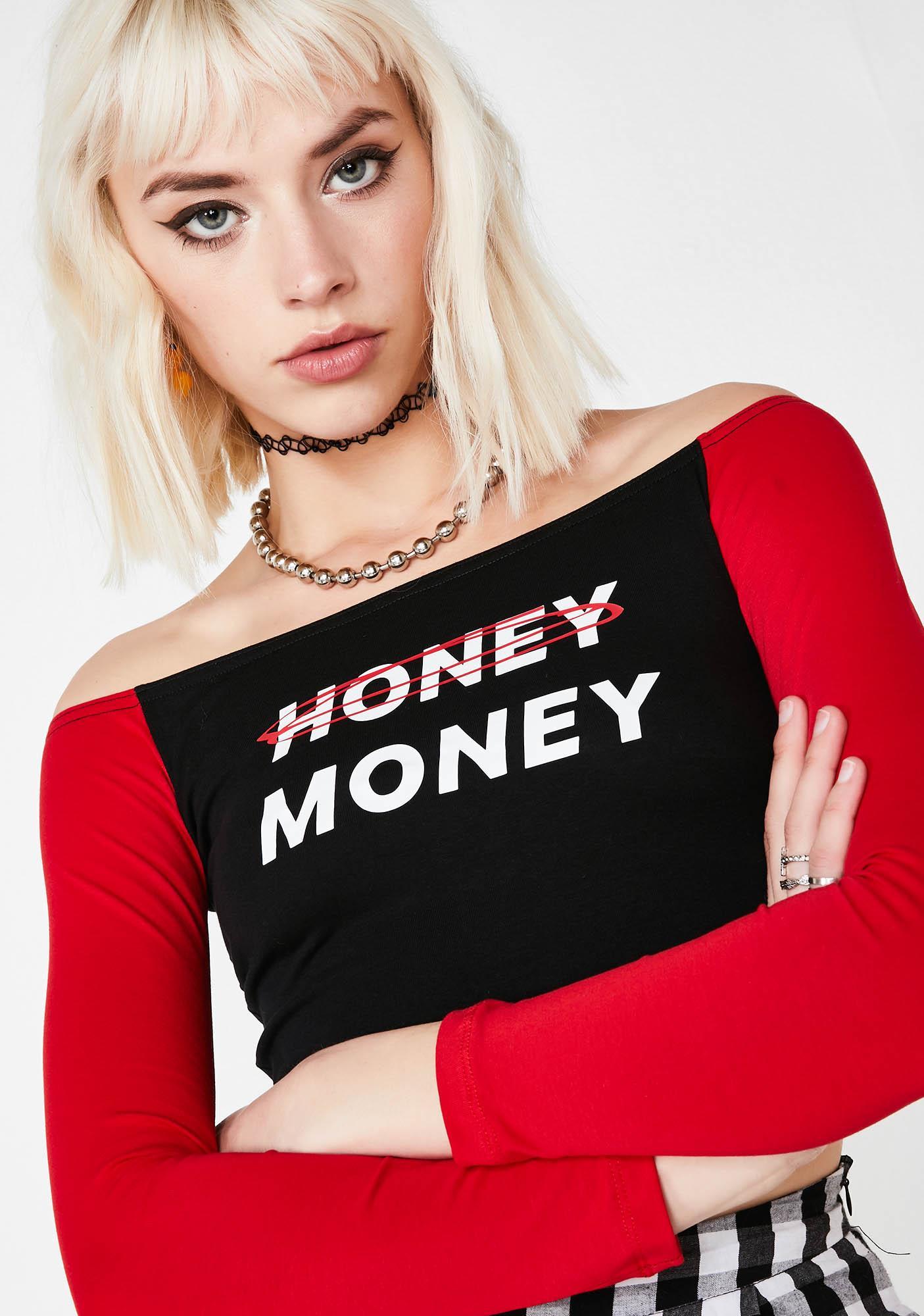 Minga Honey Money Off Shoulder Top