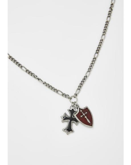 Protection From Doom Cross Necklace