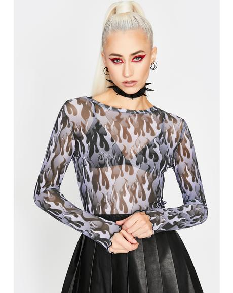 Hell On Heels Mesh Top
