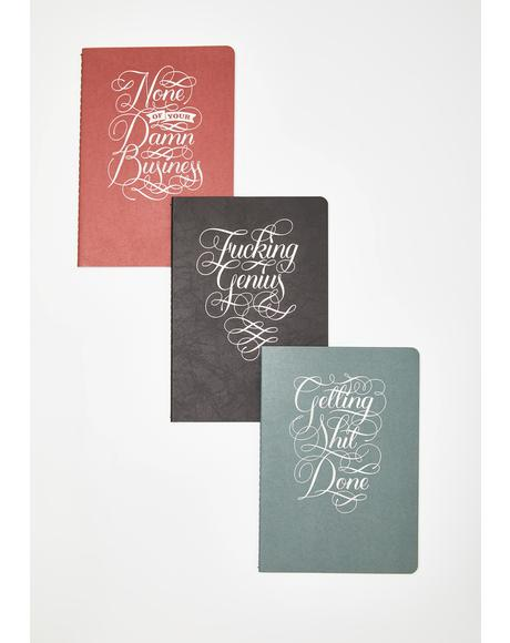 None Of Your Dawn Business Notebook Set