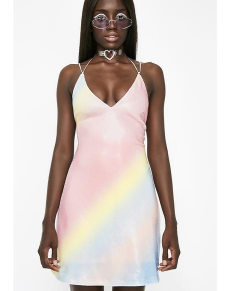 Rainbow Sherbert Sequin Dress