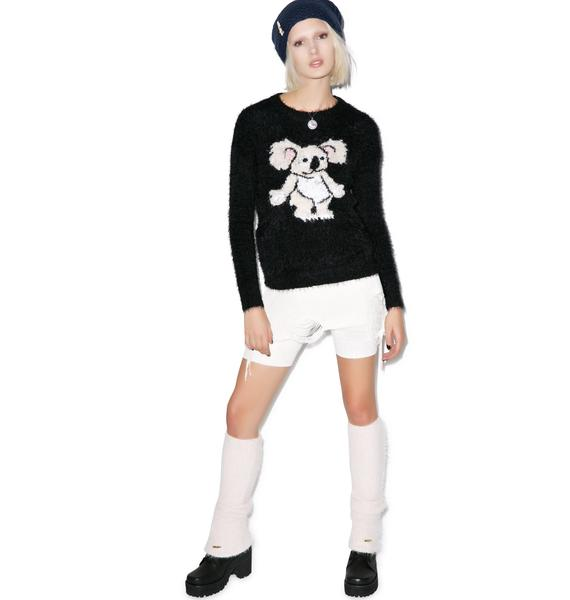 Mink Pink Drop Bear Knit Jumper