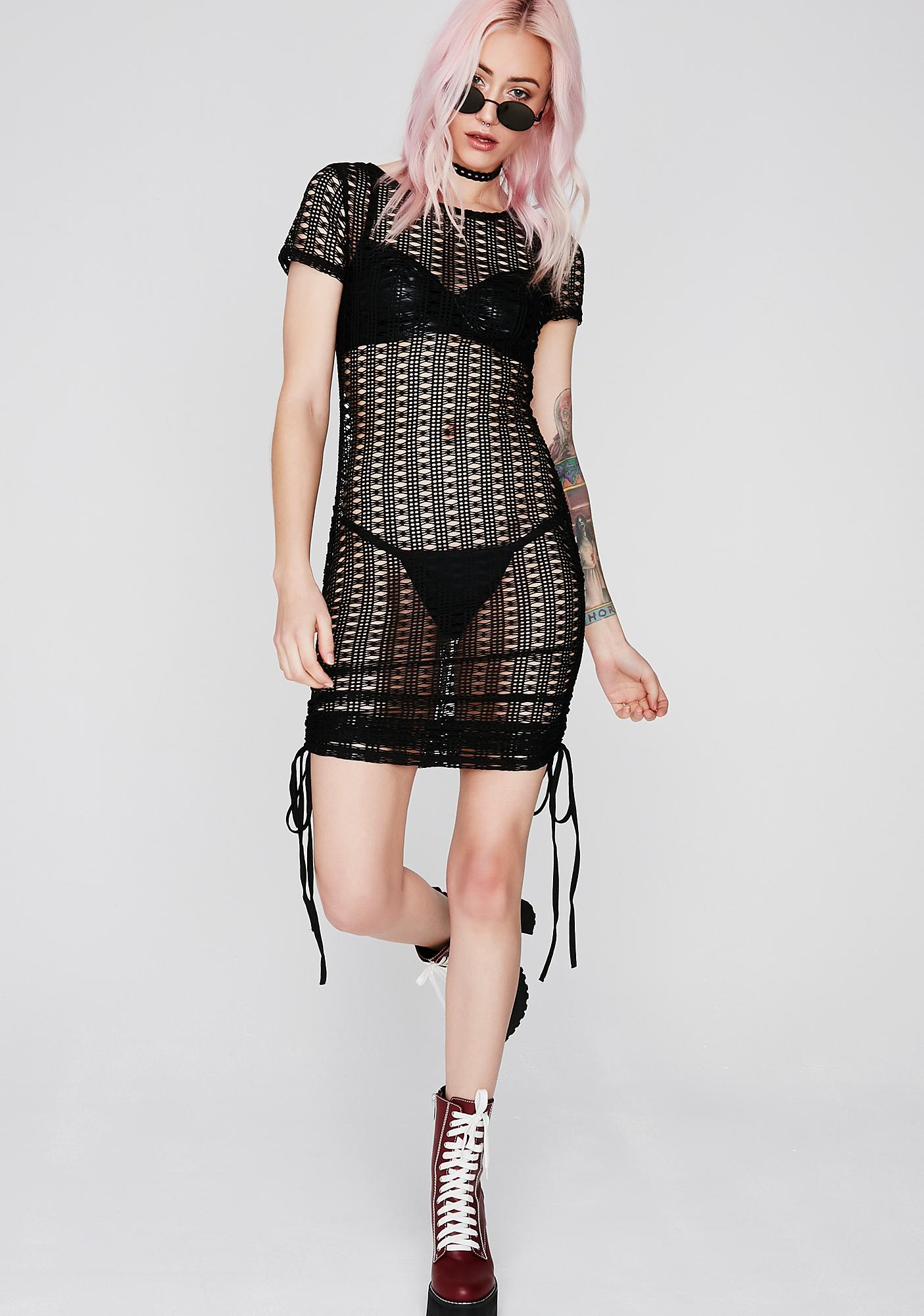 Peep Show Sheer Dress
