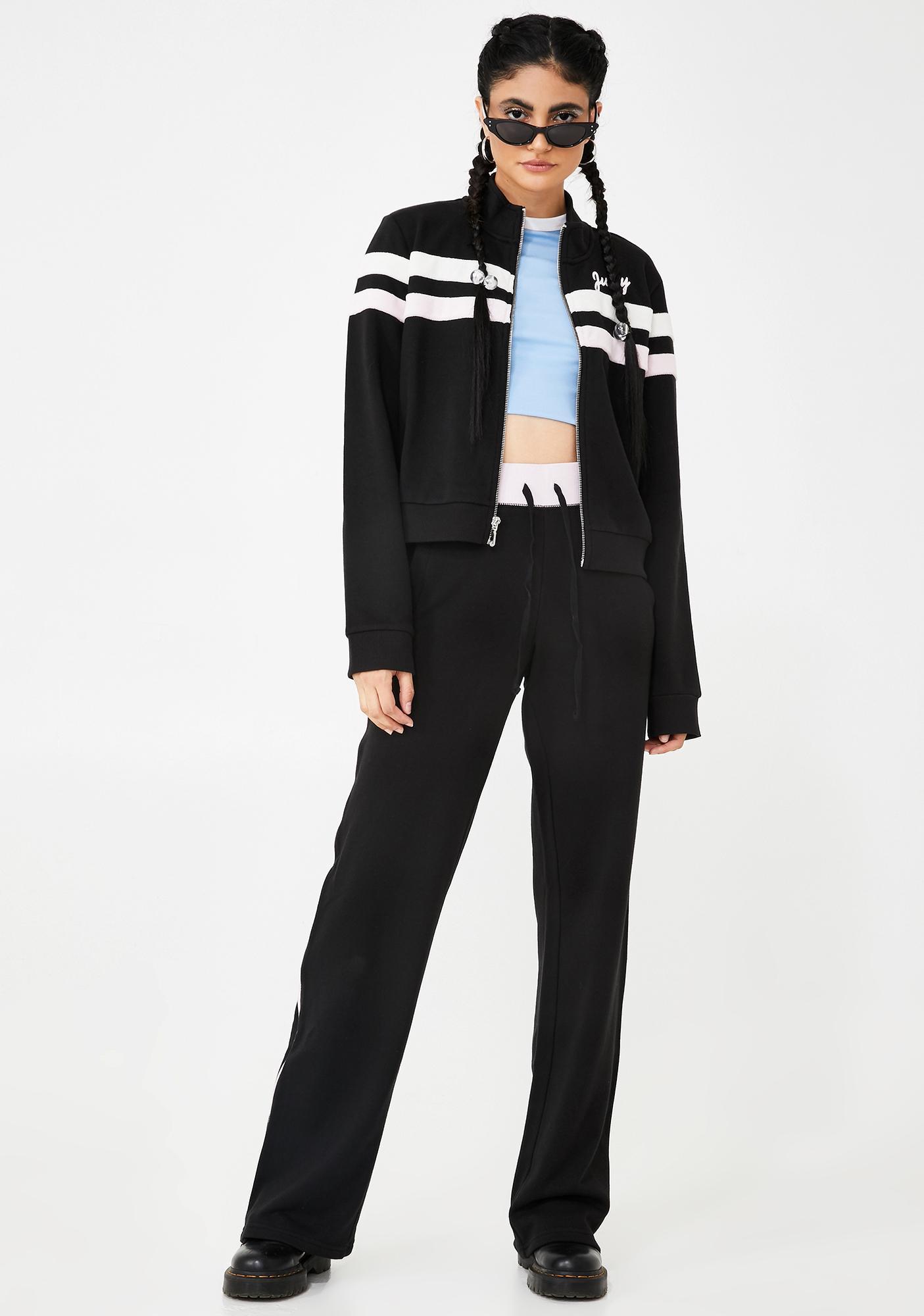 JUICY COUTURE Track Zip Up Pants