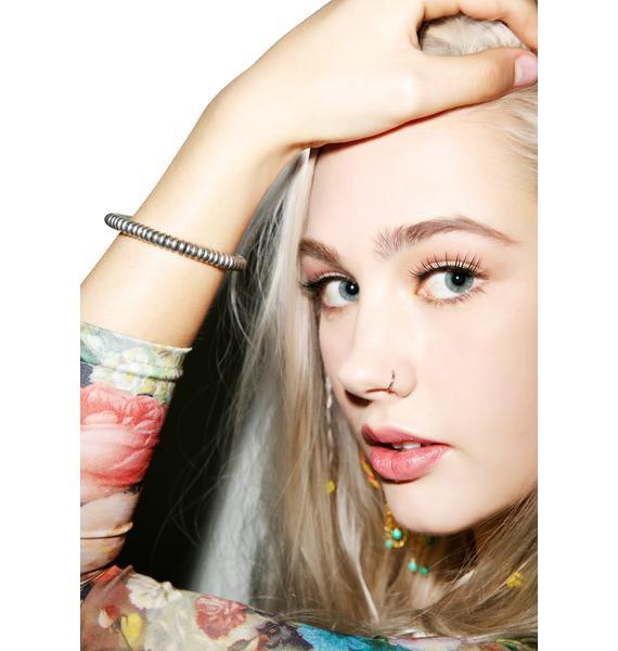 Ettika Silver Nugget Deerskin Bracelet
