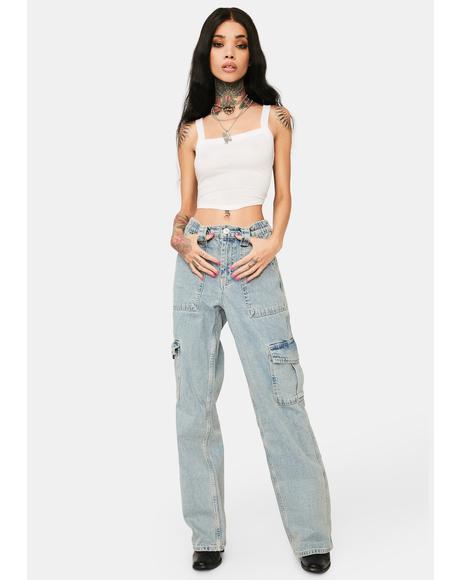 Bleach Skate Cargo Jean