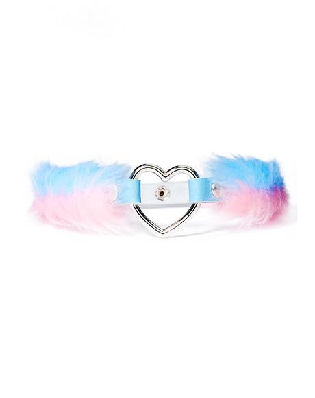 Baby Blue Pink Choker