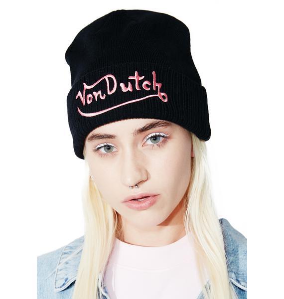 Von Dutch Logo Beanie