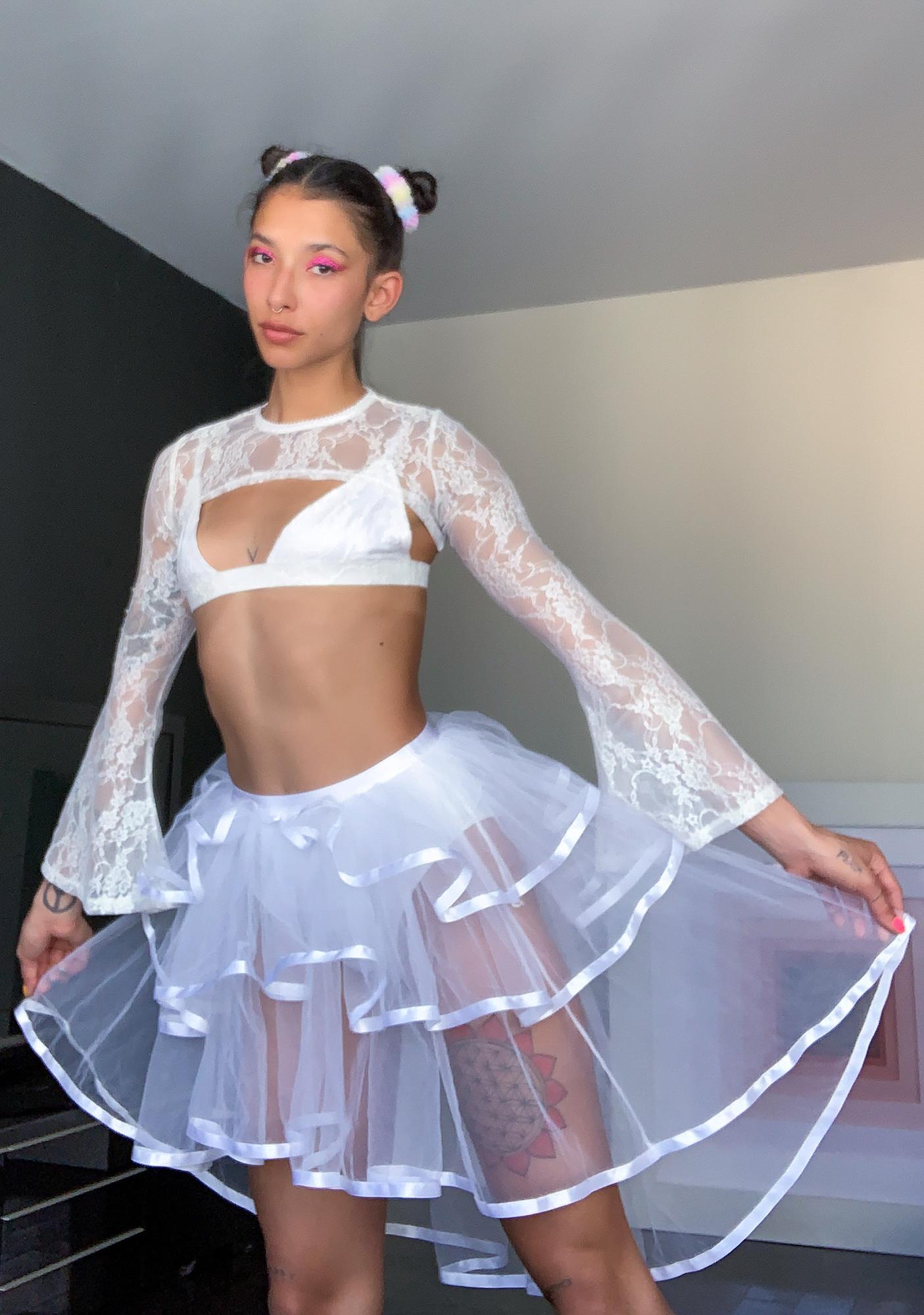 Sugar Thrillz Bliss Before Midnight Hi Low Skirt