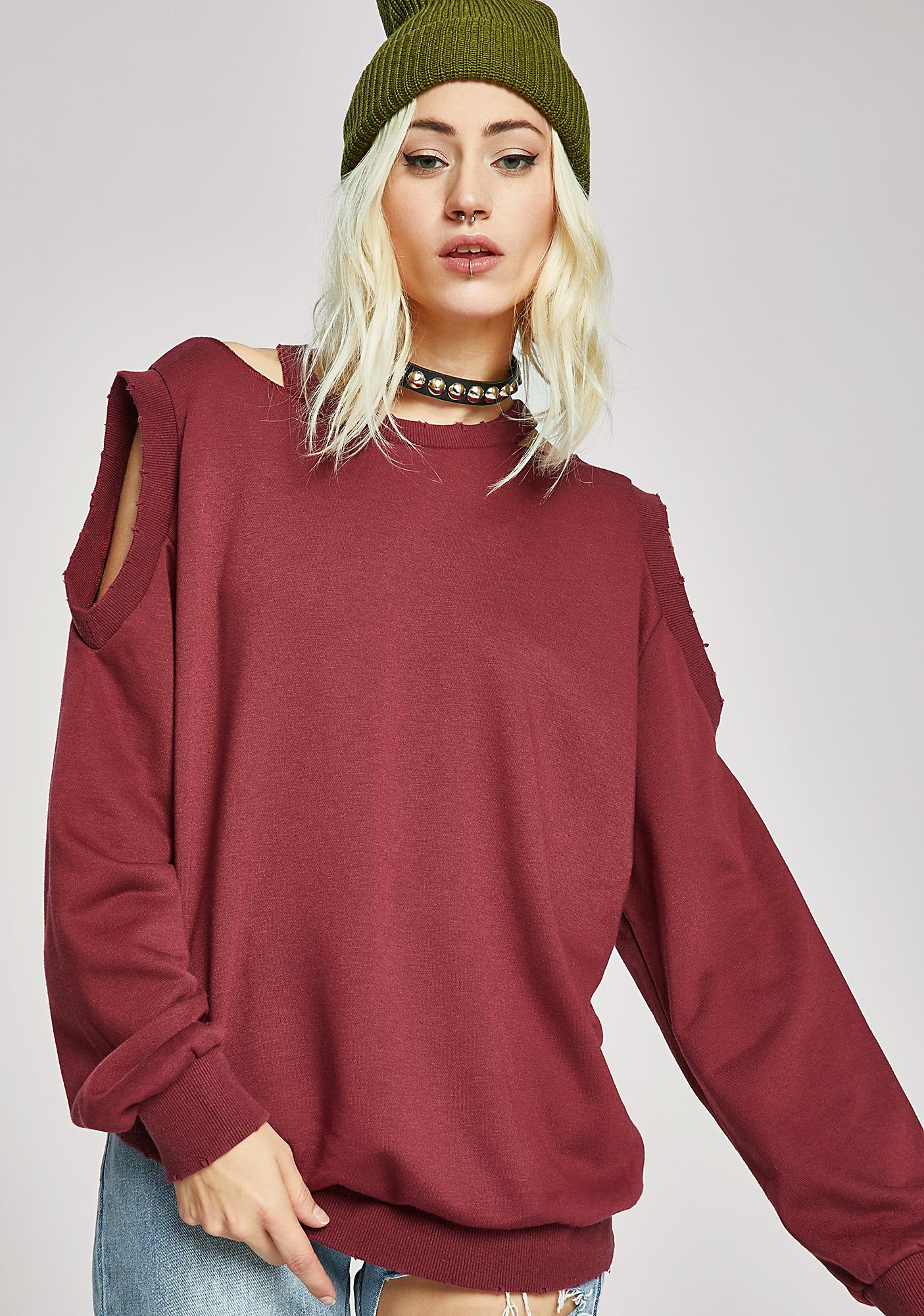 Lookin' For Trouble Cut-Out Sweatshirt