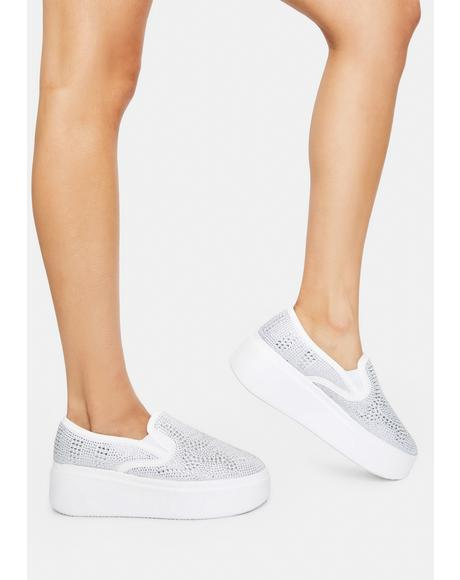 Silver Where It Begins Platform Sneakers