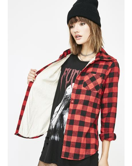Lit Original Gangsta Flannel Top