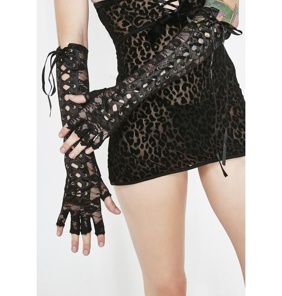 Corrupt Countess Lace Up Gloves