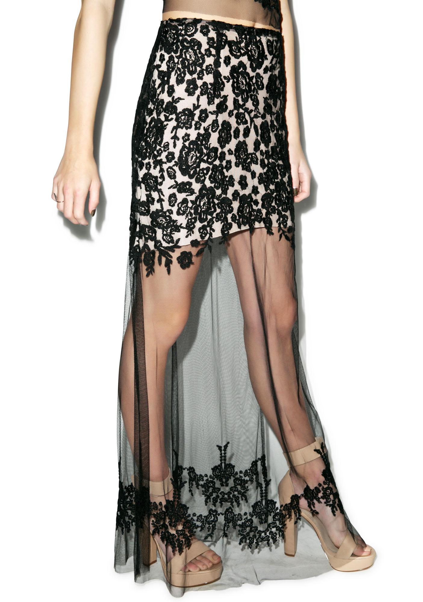 For Love & Lemons Luau Maxi Skirt