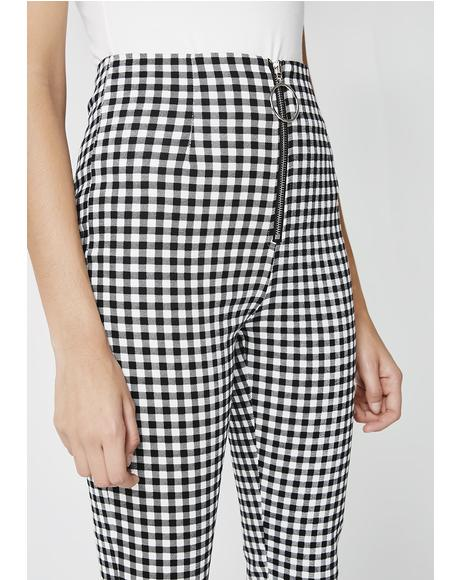 Uncontrollable Gingham Pants