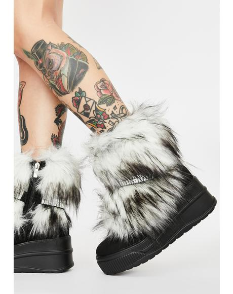 Coal Abominable Baddie Faux Fur Boots