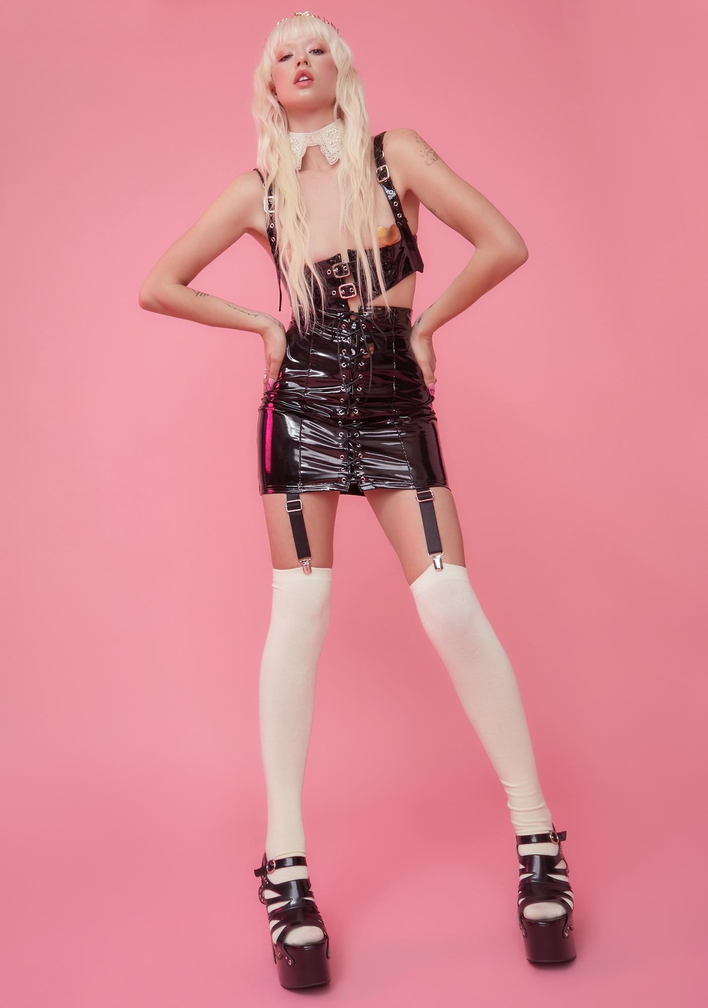 Sugar Thrillz Child Of Mars PVC Garter Skirt