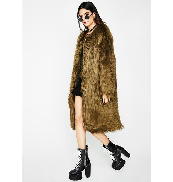 Fur Life Long Coat