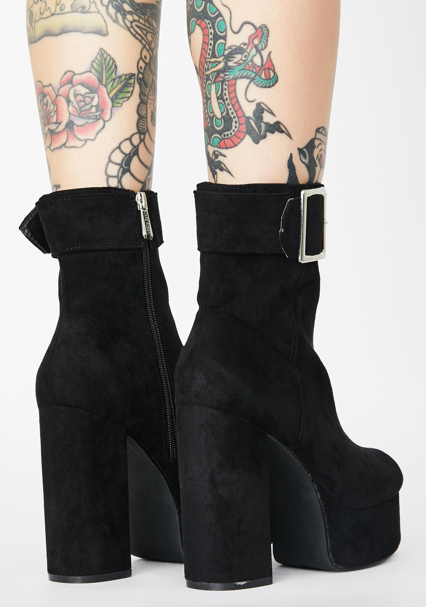 Never Incognito Suede Boots