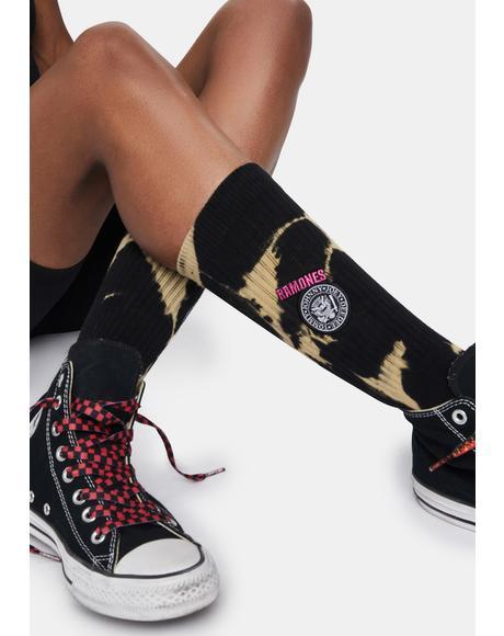 Ramones 1976 Crew Socks