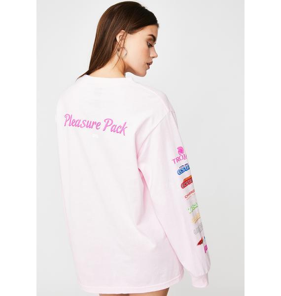 HUF x Trojan Pleasure Pack Pink Long Sleeve Tee