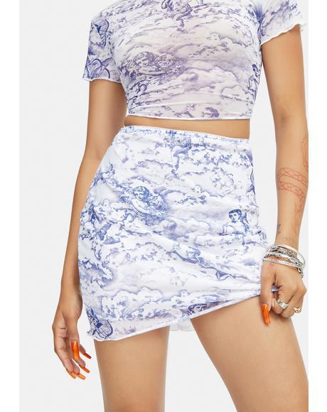 Cherub Mesh Kinnie Mini Skirt