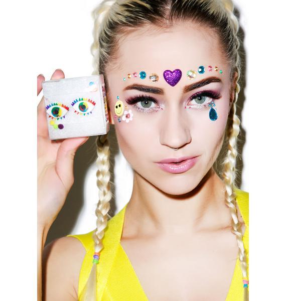 Wicked Hippie Third Eye Rainbow Ring Set