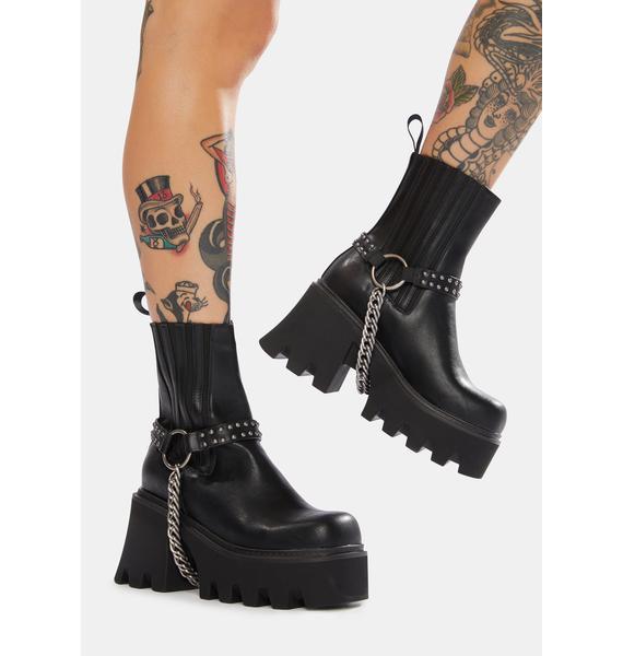 Lamoda Beatdown Chain Platform Boots