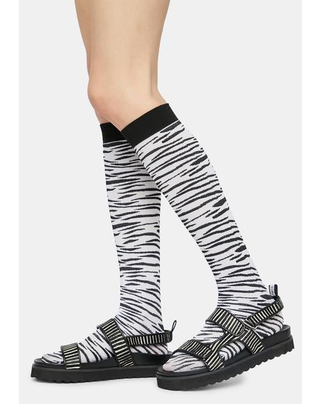 Change My Stripes Zebra Knee High Socks