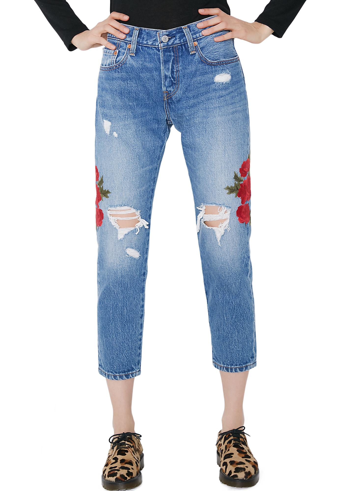 Levis Cropped Taper Jeans