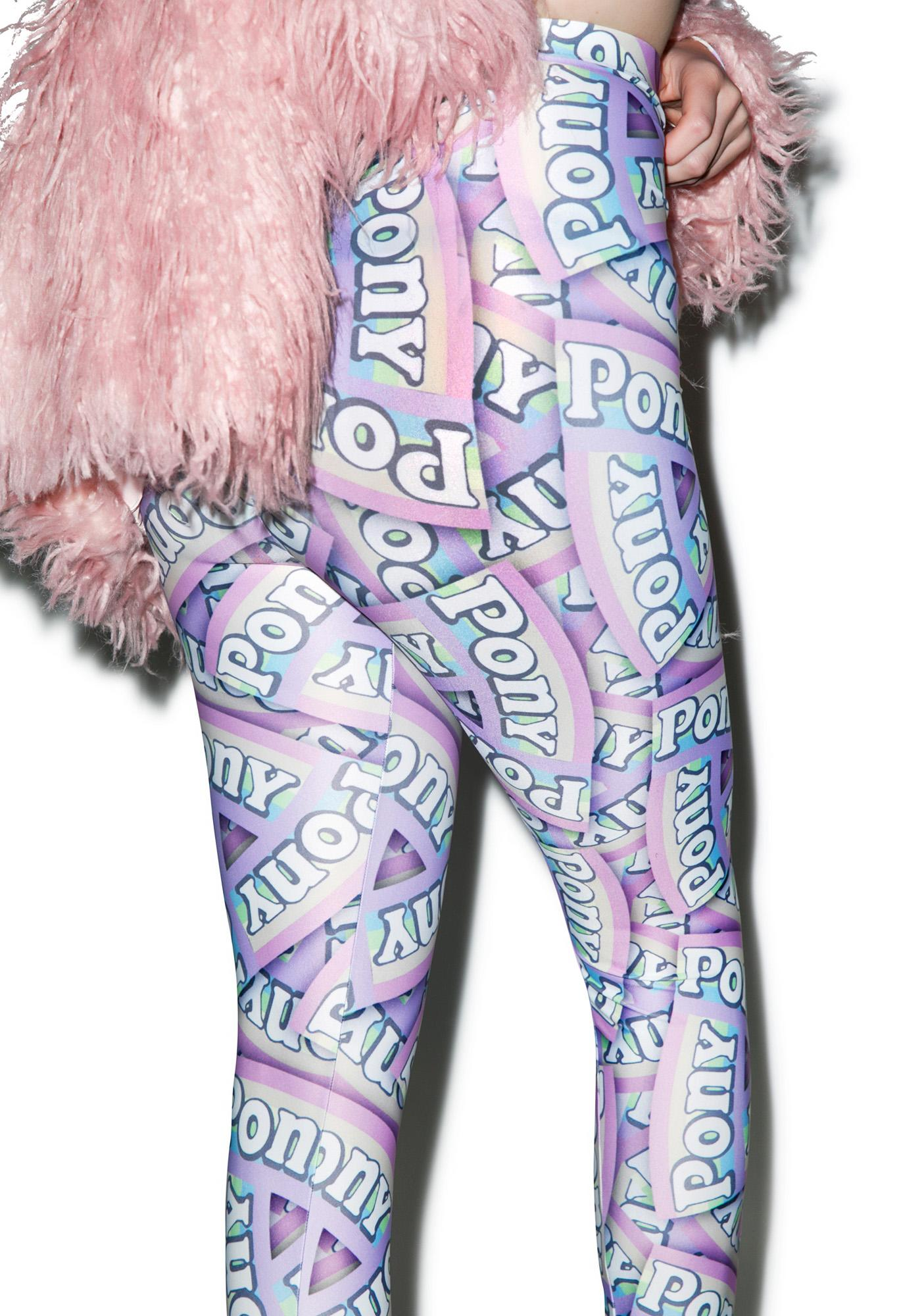 Alice Vandy Pony Logo Leggings