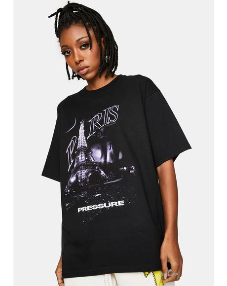Black Paris Graphic Tee