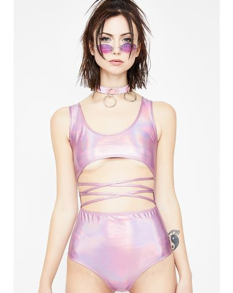 Candy Toxic Play Holographic Bodysuit
