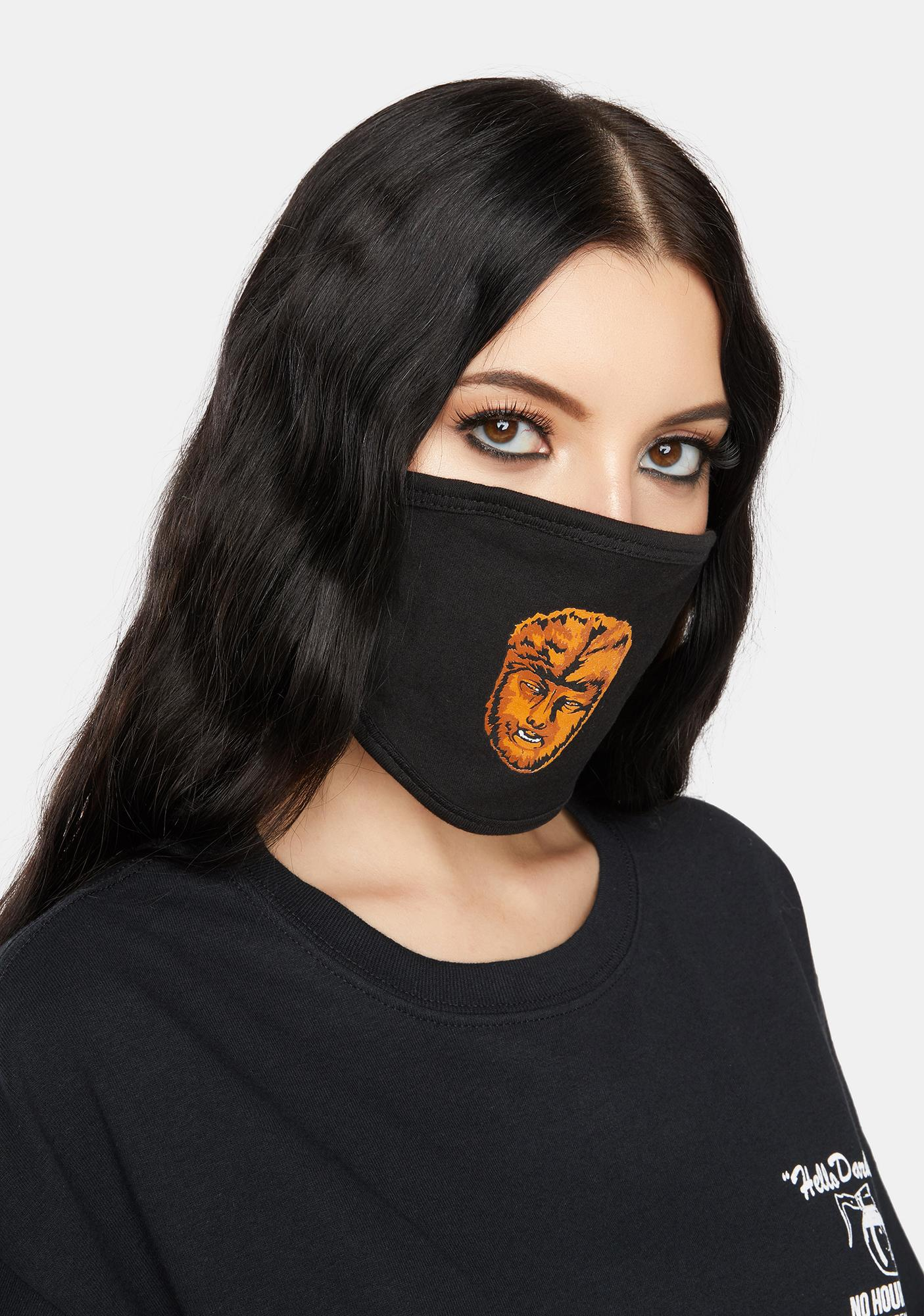 Rock Rebel Chaney Wolfman Face Mask