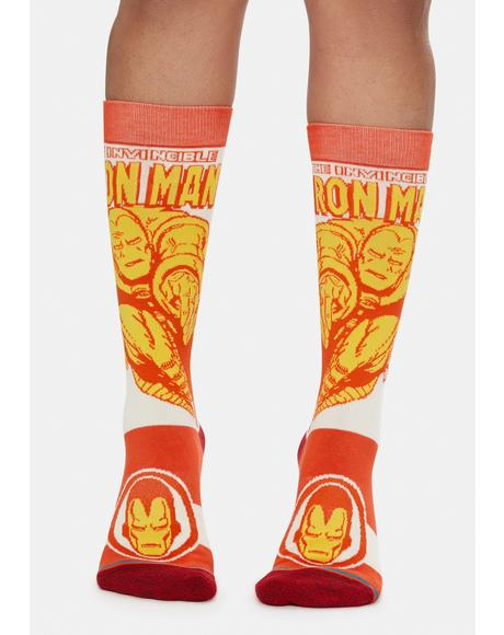 Iron Man Marquee Crew Socks
