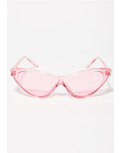 Crazy Conversation Cat Eye Sunglasses
