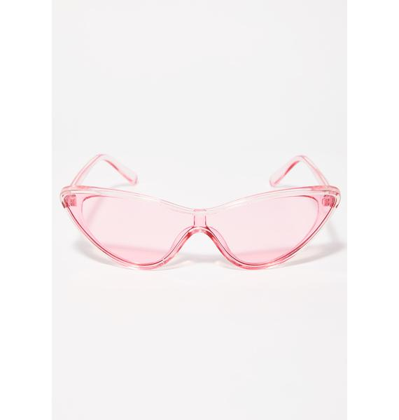 Crazy Conversation Cat Eye Sunglasses