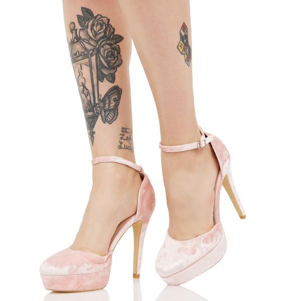 Glamorous Cupid'z Crush Velvet Heels