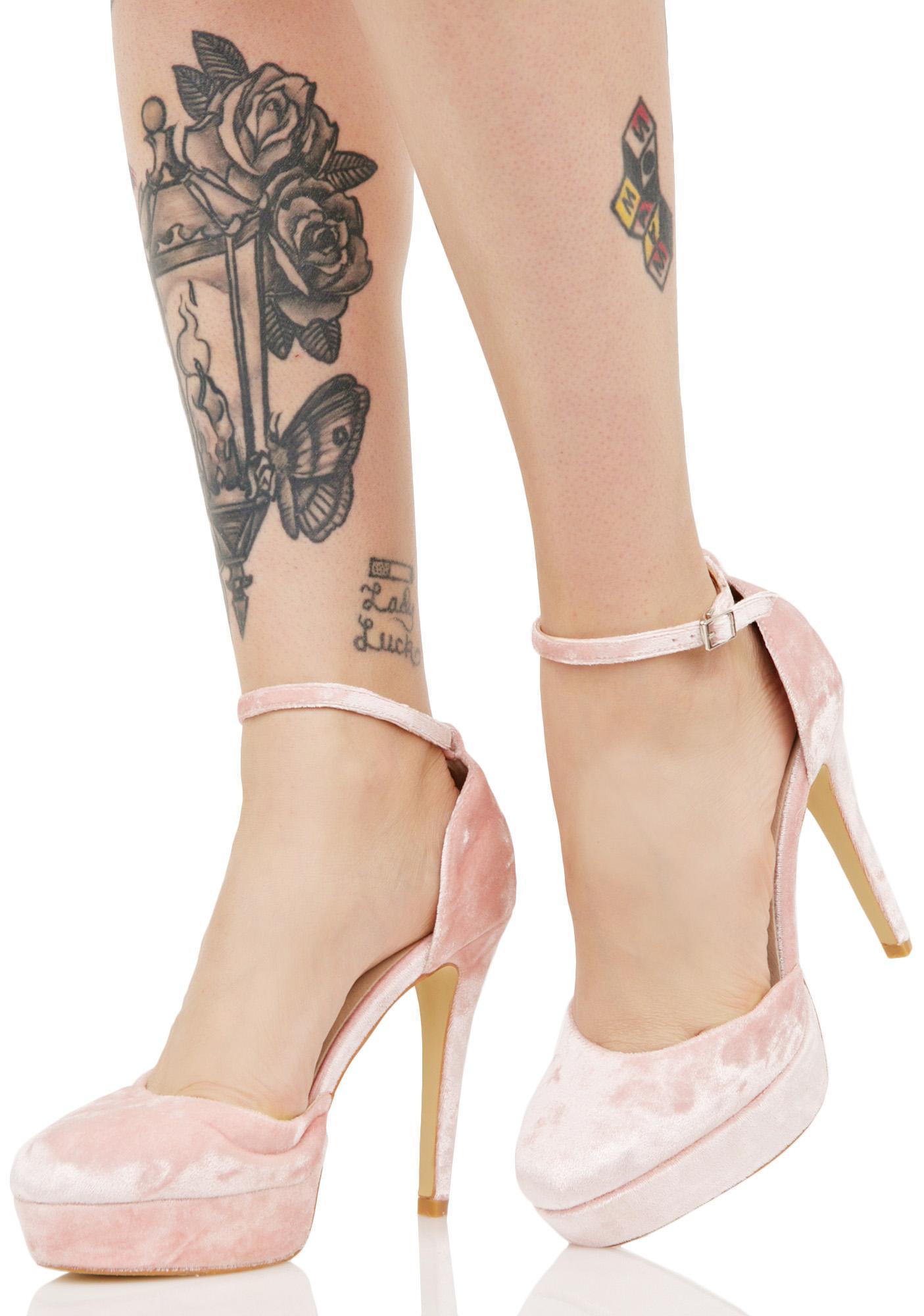 f4e01b509a7 Glamorous Cupid z Crush Velvet Heels