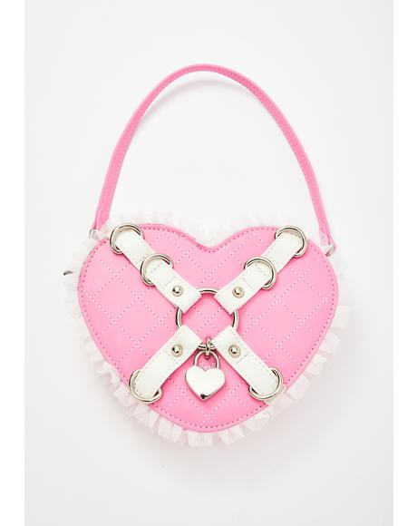 Locked In Love Heart Purse